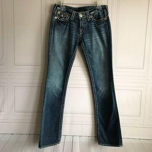 True Religion Billy Big T Straight Leg Cotton Jean